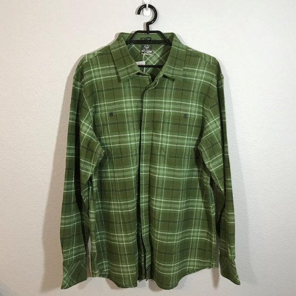 Merrell Other - Merrell NWT Green/White Plaid Flannel Shirt